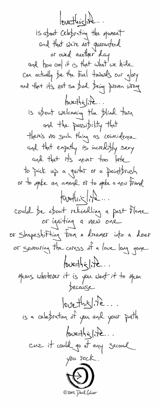 Artist Comes out of a Depression by Creating a Glorious Manifesto about Loving Life